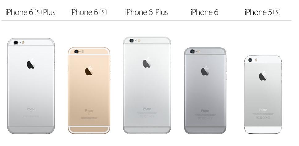 Comparación de los modelos de iPhone desde el 5S