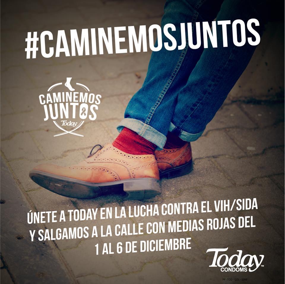 CaminemosJuntos  condones today campaña juanpis, dia mundual sida