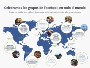 Somos 1000 millones de personas que interactuamos en grupos en Facebook